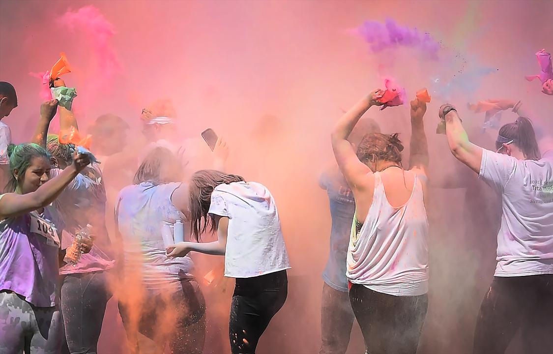 New Milford High School hosts a Color Run to raise money for UNICEF.