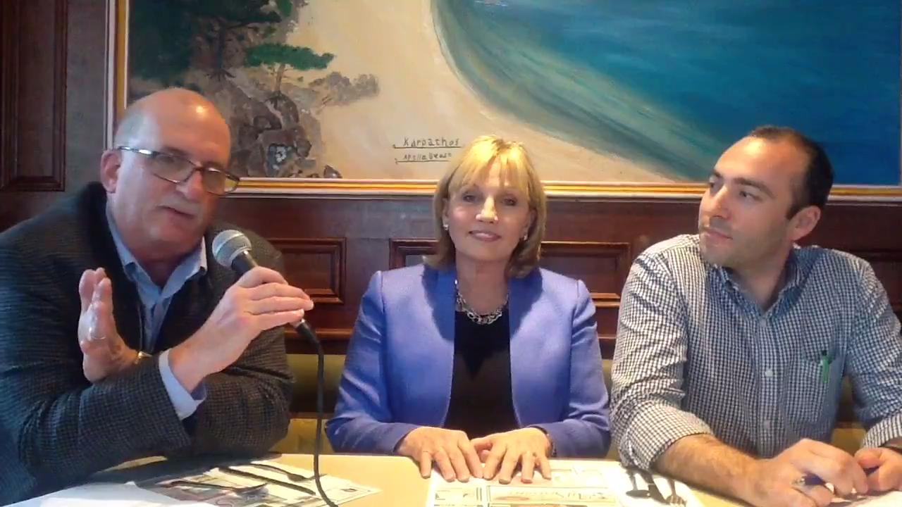 Record State House reporter Dustin Racioppi and political columnist Charles Stile interview GOP gubernatorial hopeful Kim Guadagno at a diner in Eatontown on May 22, 2017