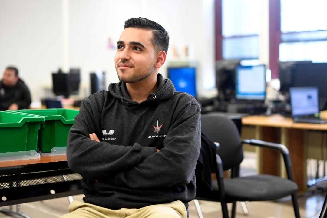 Mohamad Chacha, now of Paterson, left Syria at the age of 14. Now he is graduating as the salutatorian of his class at ACT Academy and will attend Rutgers University in the fall.