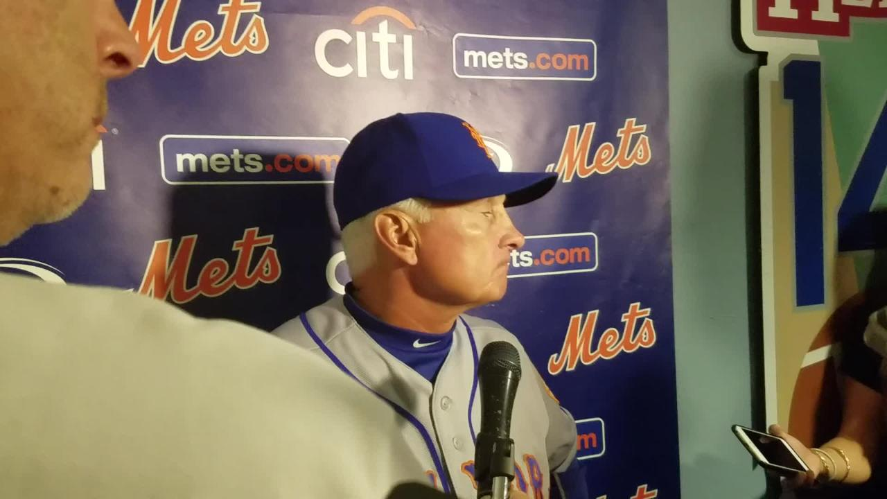 Video: Collins talks about 12-0 loss to Dodgers