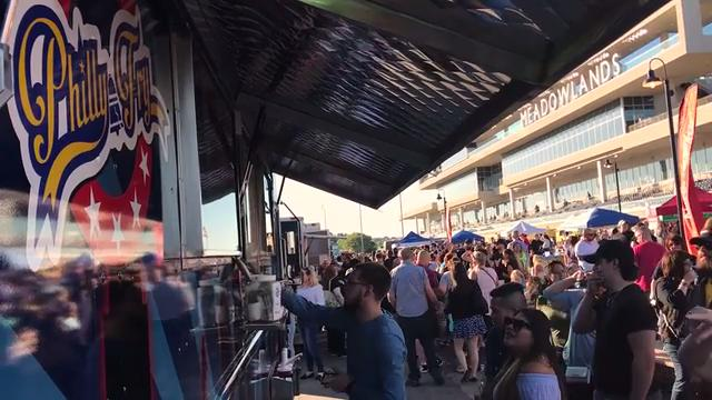 Over 30 food trucks from New Jersey and Philly gathered at the Meadowlands Racetrack for JerseyFest.