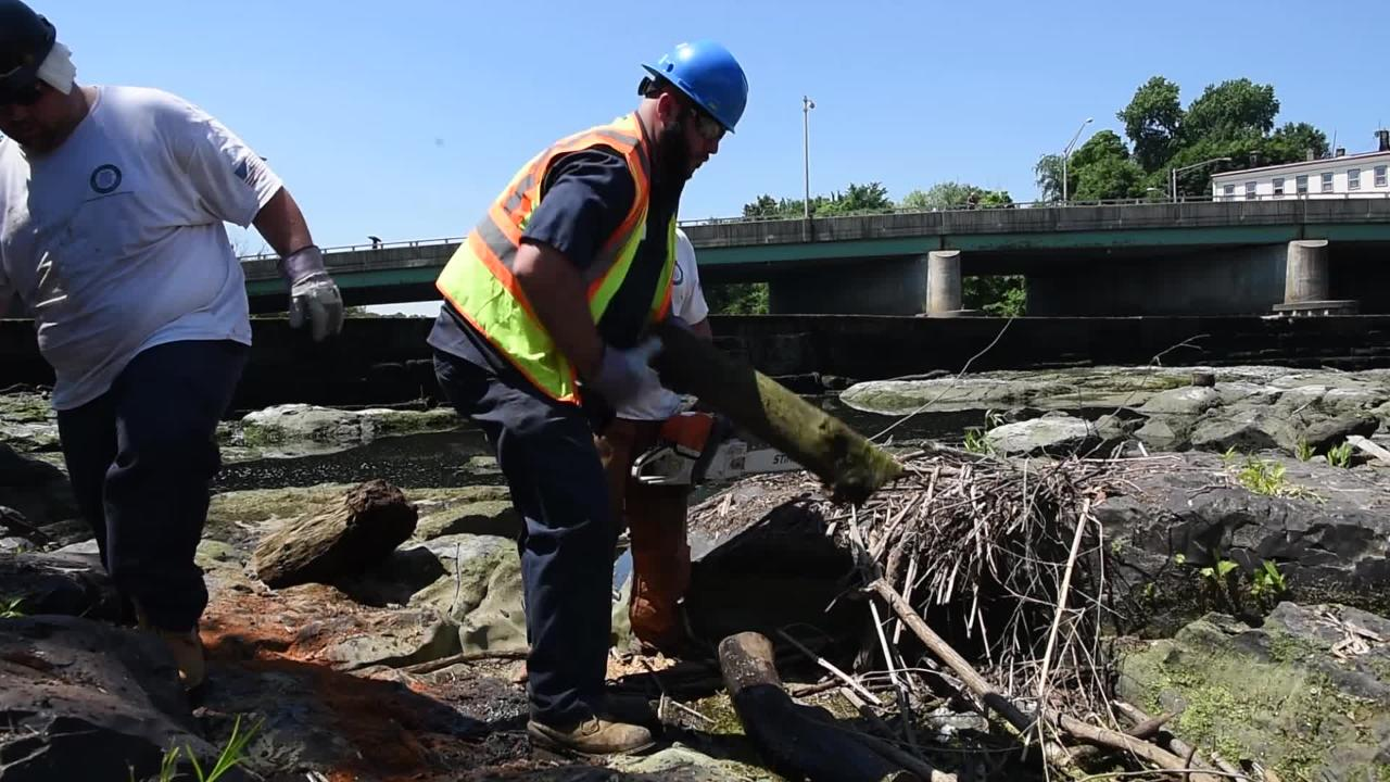 Five tons of debris removed from Paterson Great Falls during biannual clean up.