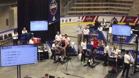 Video: Wingate testing at NHL Scouting Combine