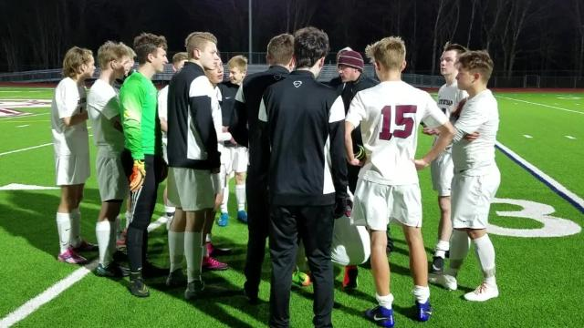 South Kitsap's boys soccer team beat Emerald Ridge 3-1 on Wednesday, March 22. Grant Larson scored a pair of goals for the Wolves.
