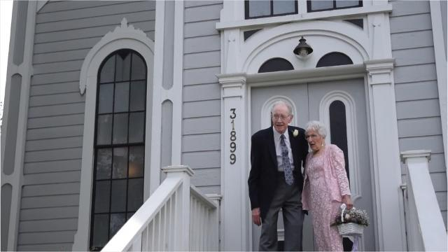 Meet David Law and Leah Ritchie, two octogenarians who fell in love and decided the time was right to get married.