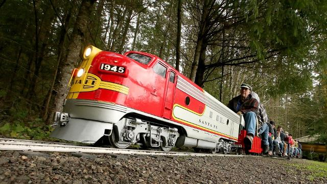 Kitsap Live Steamers miniature railroad, established in 1990, has given thousands of passengers free rides through the woods of South Kitsap Regional Park.