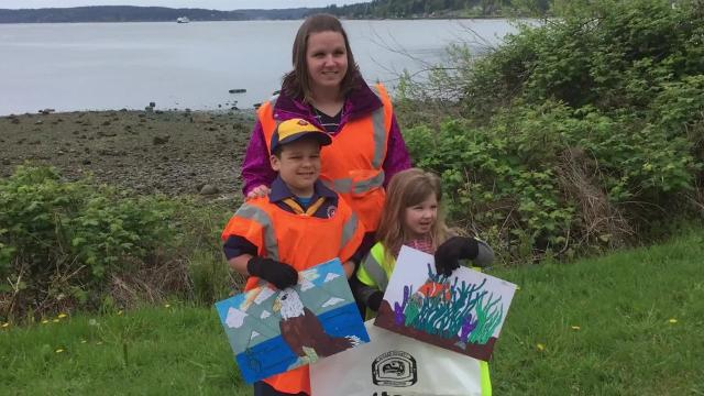 Volunteers with Kitsap Trees and Shoreline Association on April 29, 2017, picked up trash on the shoreline of Sinclair Inlet both on the Bremerton and Port Orchard sides. The city of Port Orchard held its own beautification work party.