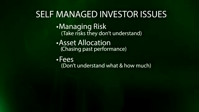 Many people manage their own investments, but there are drawbacks to consider, says Scott Hansen, managing director of BMO Private Bank in Naples. Among them: Taking risks or paying fees you don't understand; not knowing how to allocate your assets;