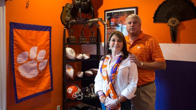 Brian and Jeanne Penner discuss their son Seth, who currently plays for the Clemson Tigers as a redshirt freshman, and their family's proud history with the school on Friday, Jan. 6, 2017.
