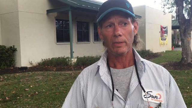 Thompson Goble evacuates from Collier County fire