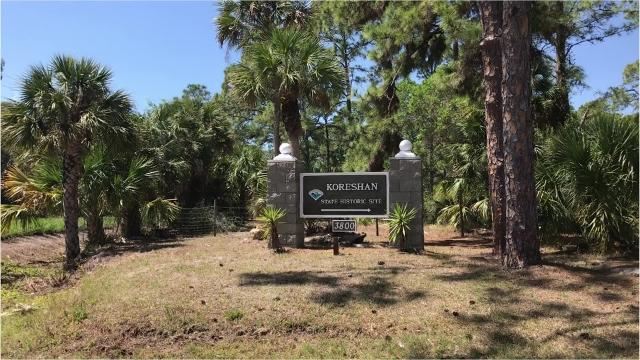 Koreshan State Historic Site offers visitors a little bit of Florida's history as well as a 0.4 mile nature trail.