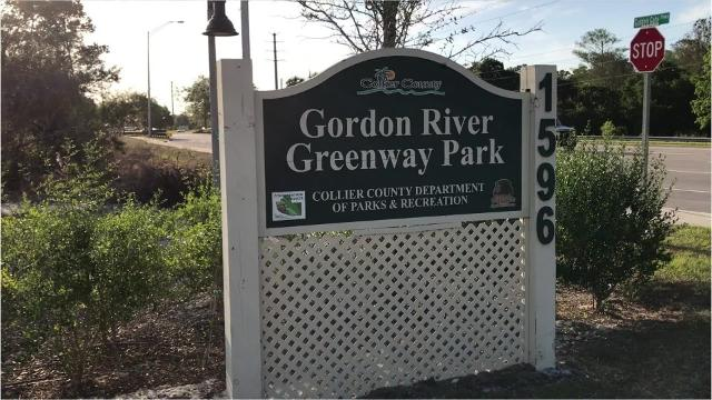 Run along the Gordon River on a 1-1/2 mile paved loop trail. This trail has water access along the way as you spend time enjoying some of the scenery. The Greenway runs from north to south, starting at Golden Gate Parkway and is adjacent to Naples Municipal Airport.