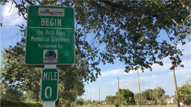 At the Rich King Memorial Greenway visitors can bike, walk and even inline skate. The length of this trail is 3 miles and extends from north to south along the east side of Naples.