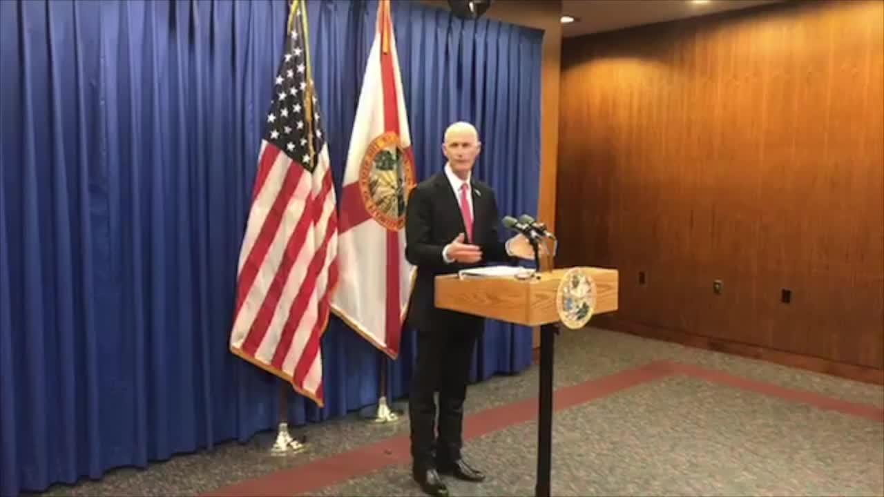 Rick Scott press conference on environment