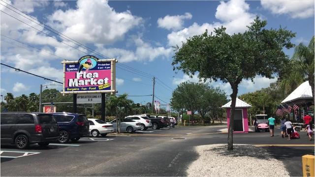 Find a souvenir at Flamingo Island Flea Market