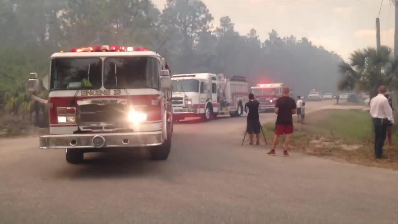 Friday: Fire crews at scene of brush fire