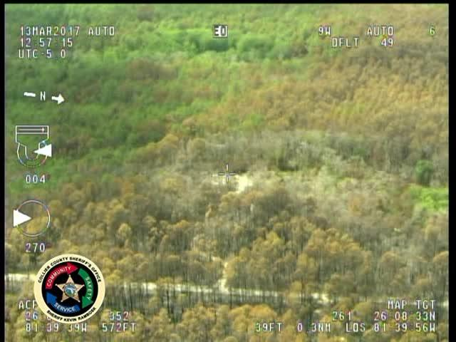 Aerial footage of the brush fire in eastern Collier County