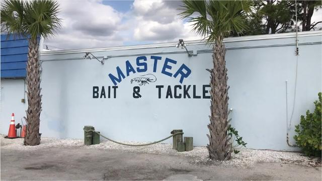 Master Bait & Tackle has wall murals for photographs