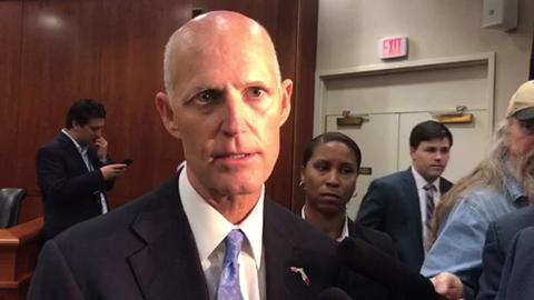 Gov. Scott on cut to VISIT FLORIDA budget