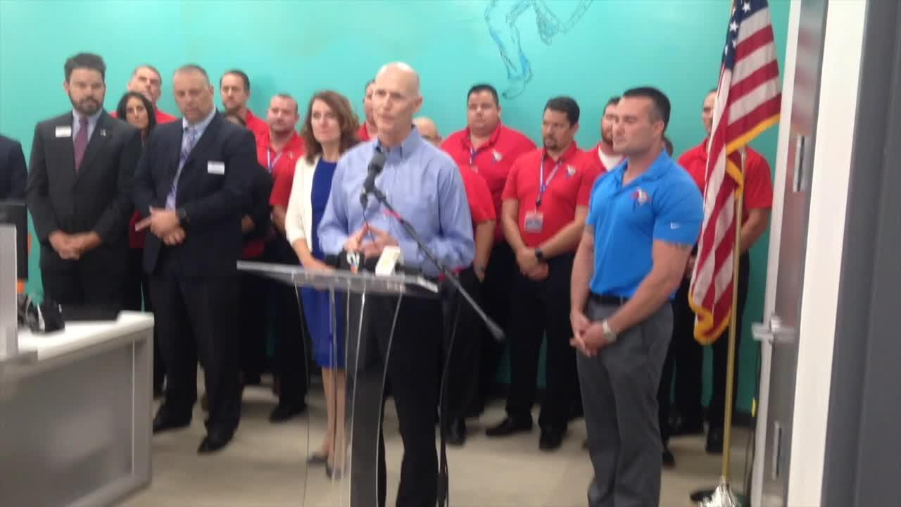 Gov. Rick Scott visited Naples on Thursday, May 4 2017 as part of a statewide tour to chastise lawmakers for what he called secret negotiations over the state's $83 billion budget that rejects some of Scott's top priorities.