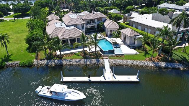 A newly built waterfront estate in exclusive Port Royal has set a record as the most expensive home to sell in Naples this year.