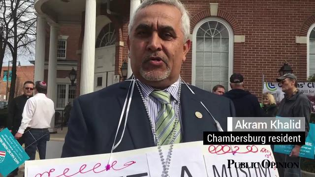 Several residents came together the morning of March 25 to support different groups and minorities in the community at a Unity Gathering in downtown Chambersburg.