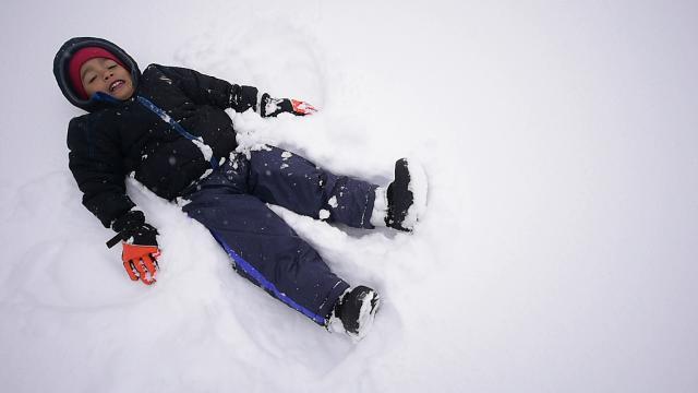 Watch: Slow-mo snow fun in York