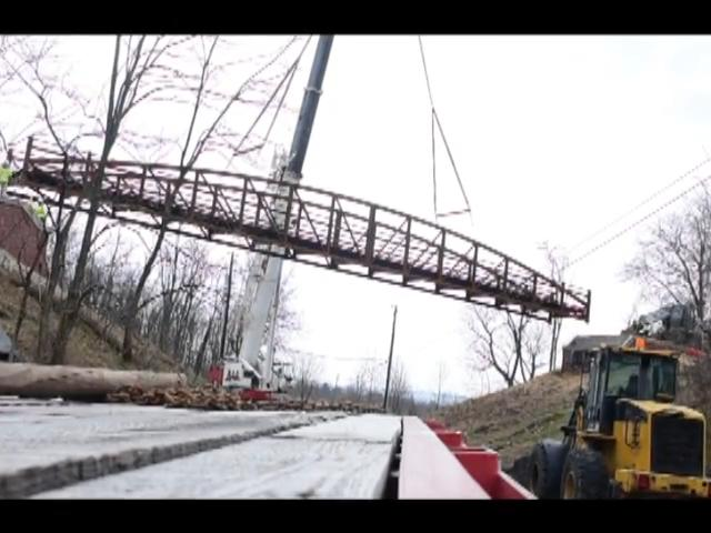 A new pedestrian bridge was installed at Cumberland Valley Rail Trail to link Earl Street Shippensburg with the trail.