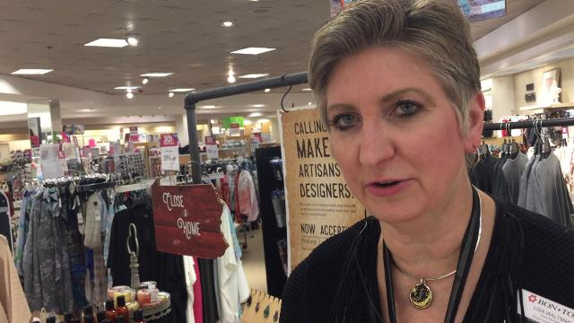 """Lisa Waltman, the store manager at the York Galleria Bon-Ton talks about why the chain has opened """"Close to Home"""" shops in several of its stores featuring locally made products."""