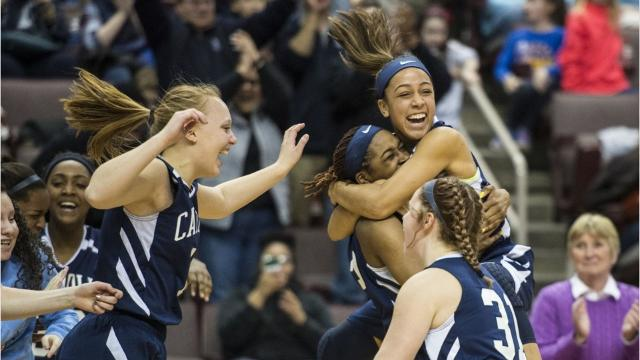 The Lebanon Catholic girls basketball team is headed to the PIAA 1A State Final. They will face off against Junaita Valley at noon on March 24 at the Giant Center in Hershey. Here's how they got there.
