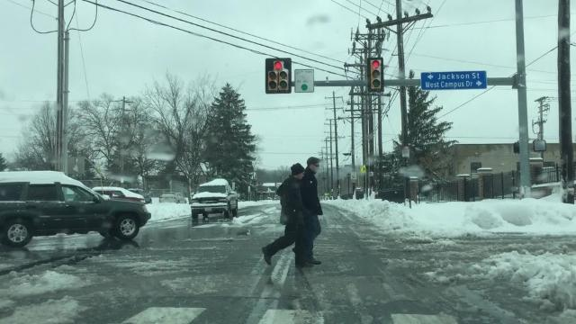 Watch: Snow day, slow day for emergency responders