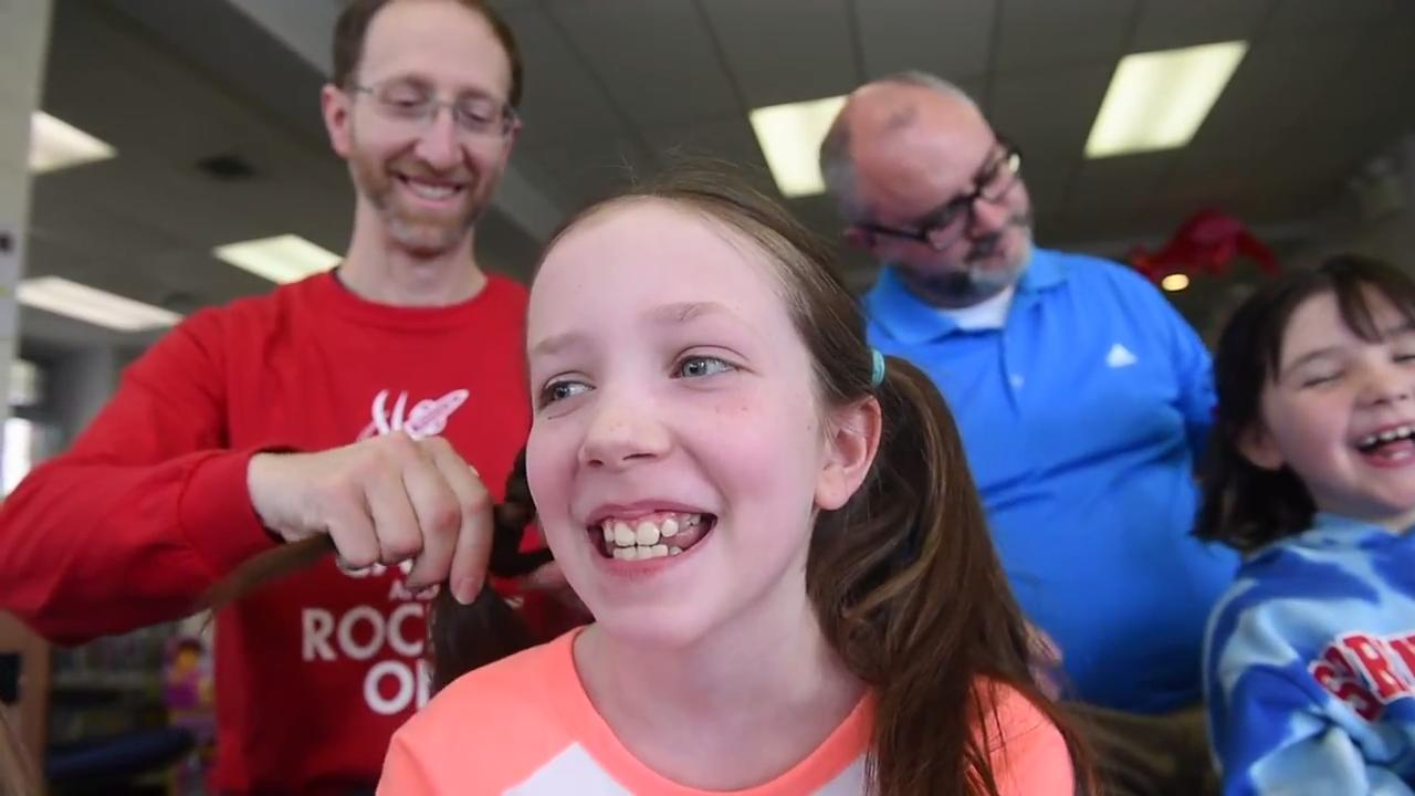 Glatfelter Memorial Library hosted the Daddy Daughter Hair Boot Camp, teaching dads how to style their little girls' hair.