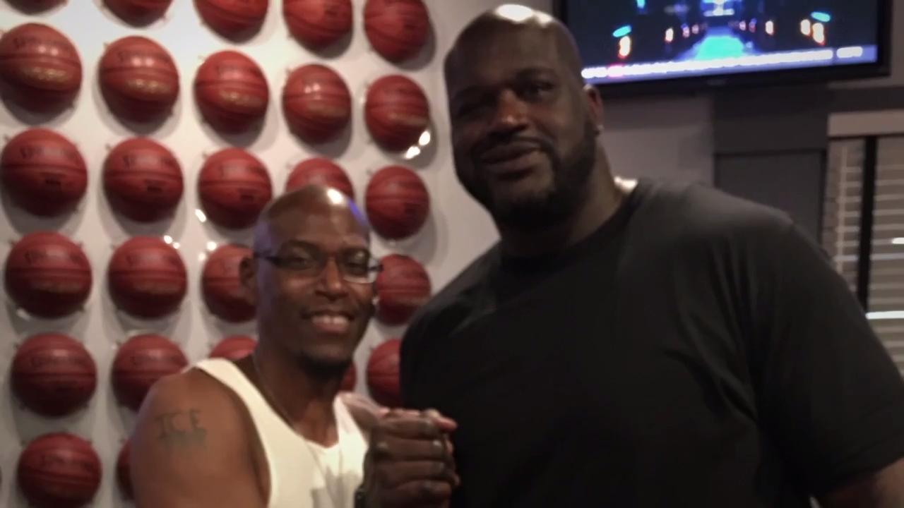 While Chris Woodard was stationed in Wildfleckin, Germany, he taught a boy to play basketball. That boy was Shaquille O'Neal. (video produced in 2017)