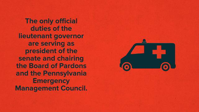 Experts say Pennsylvania is probably the only state to provide a residence to its lieutenant governor.