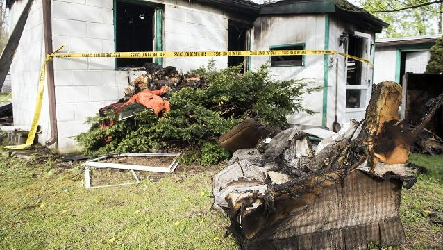 A fire in the 600 block of Zeigler Road, in Warrington Township, sent homeowner Theodore Rizzio, 92, to the hospital and claimed the life of his dog, a beagle named Rocco.