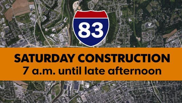 Repairs to the Interstate 83 bridge over Route 30 will cause some traffic disruptions this weekend, according to the state Department of Transportation.