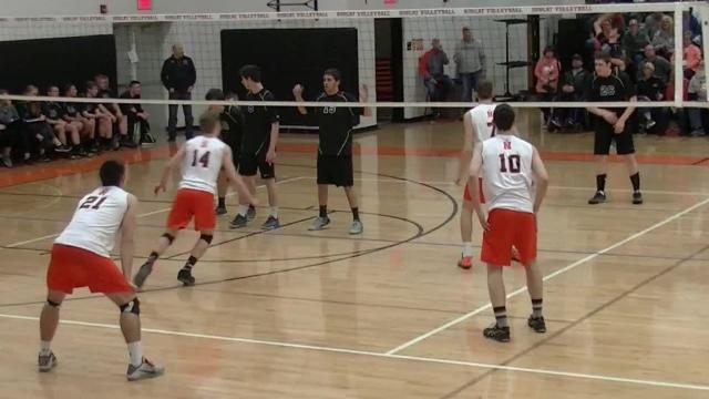 The Bobcat Invitational, hosted by Northeastern High School, brought 40 boys' volleyball teams from around Pennsylvania together for a day's competition. They played on eight courts in four gyms.