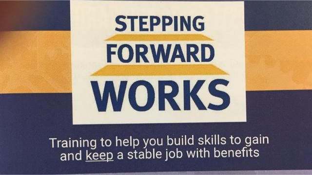 United Way of Franklin County is trying to help the underemployed and chronically unemployed with its Stepping Forward Works program. The program provides coaching and training to improve employment opportunities and get the chronically unemployed back in the work force and the chronically unemployed into good paying, full time jobs with benefits.