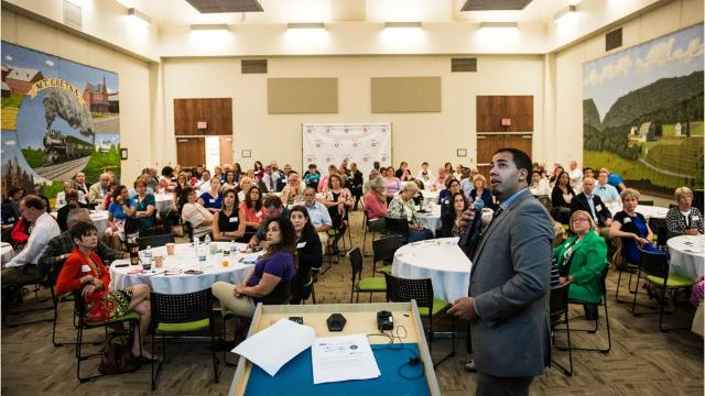 On Thursday morning, before a packed house of more than 100 community leaders, United Way Executive Director Kenny Montijo and representatives of the Center for Survey Research released their initial findings from the 2017 Community Needs Assessment.
