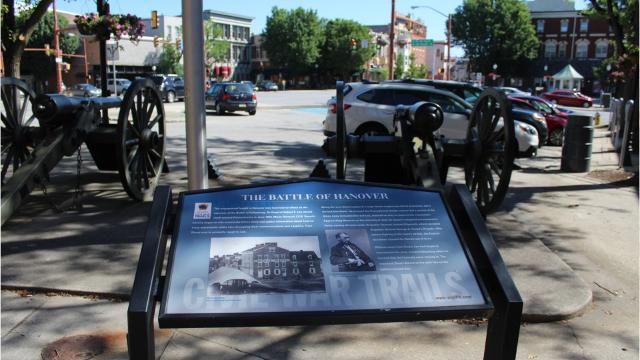 A group of volunteers are working to spruce up the historical wayside markers around the Hanover downtown.