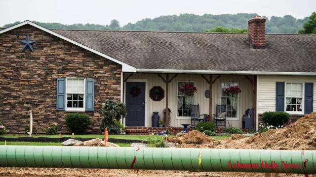 Pipeline construction is underway in Lebanon County.