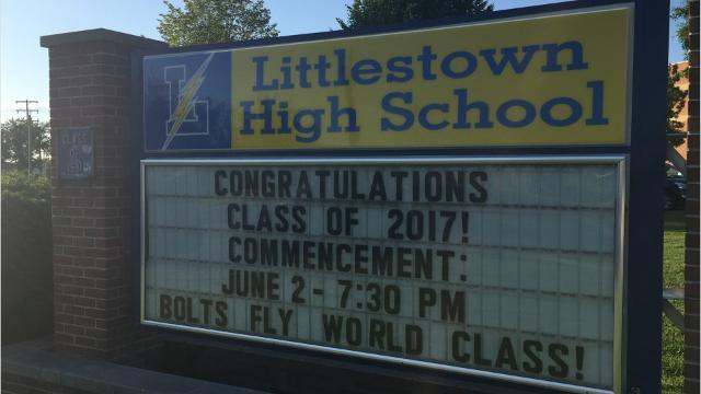 Littlestown Area High School graduated 167 students on June 2, 2017.