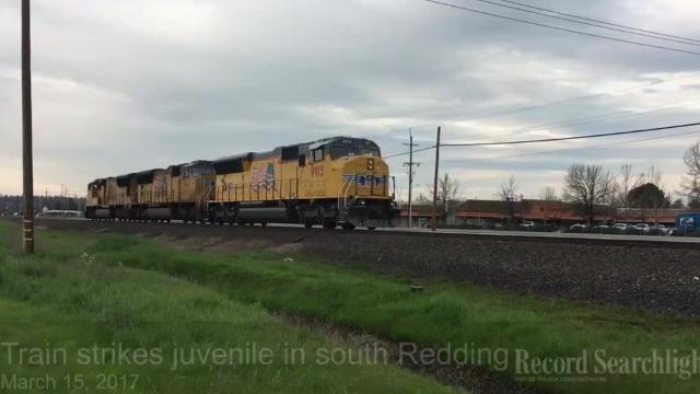 A train struck a juvenile in south Redding March 15, 2017