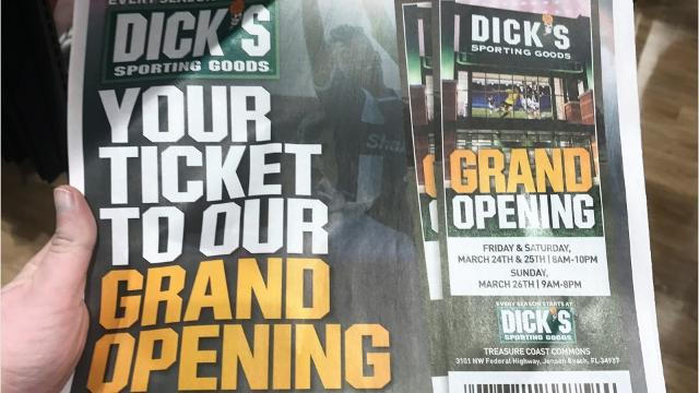 Dick's Sporting Goods kicked off its three-day grand opening March 24 in Jensen Beach. KELLY TYKO/TREASURE COAST NEWSPAPERS