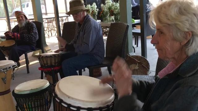 Music lovers gathered Wednesday, Mar. 15, 2017, for the weekly Open Mic and Drum Circle at Kai-Kai Farm in Indiantown.