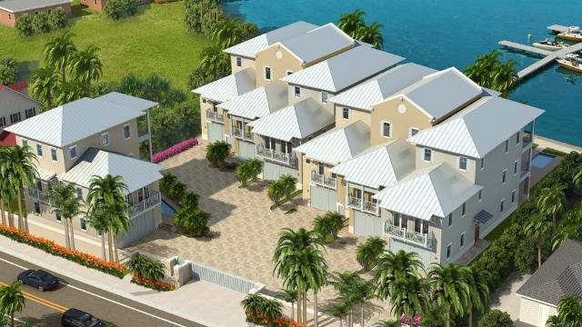 Inlet Palms, a cluster of seven, million-dollar townhouses in Fort Pierce, represents the first major beachside residential construction on South Hutchinson Island since the recession. KEONA GARDNER/TREASURE COAST NEWSPAPERS