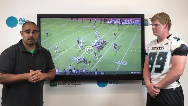 Sports reporter Jon Santucci talks to Jensen Beach middle linebacker Cole Podaras about what college recruiters can look forward to this upcoming season.