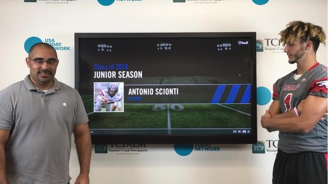 Sports reporter Jon Santucci talks to St. Lucie West Centennial wide receiver Antonio Scionti about what college recruiters can look forward to this upcoming season.