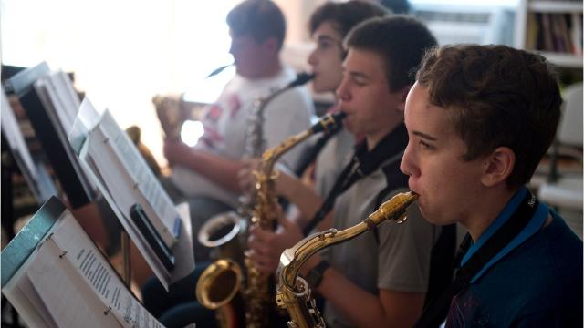"During the first week of Fort Pierce Jazz & Blues Society's Summer Jazz Camp, students practiced ""Blue Haze"" on June 13, 2017 at the society's office in Fort Pierce. Students ranged from age 14 to 71 and played on saxophones, a trombone, a trumpet, a keyboard, a piano, drums and a guitar."