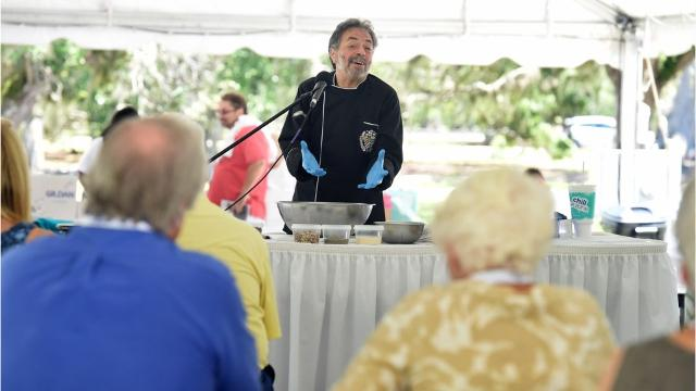 Chef Lippe of Vero Beach gave a culinary demonstration on making pate Thursday, June 08, 2017, during the Vero Beach Wine and Film Festival at Riverside Park in Vero Beach.